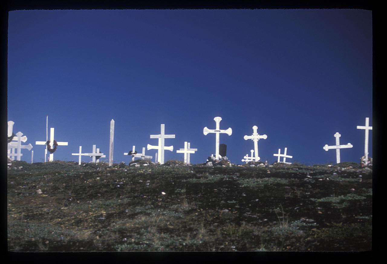 Cemetery at Iliminaq, Greenland.