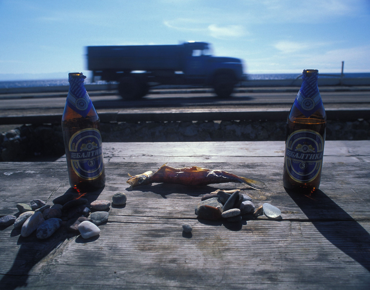 Where you could enjoy lunch of Baltica beer and dried fish, shoreside at Lake Baikal.
