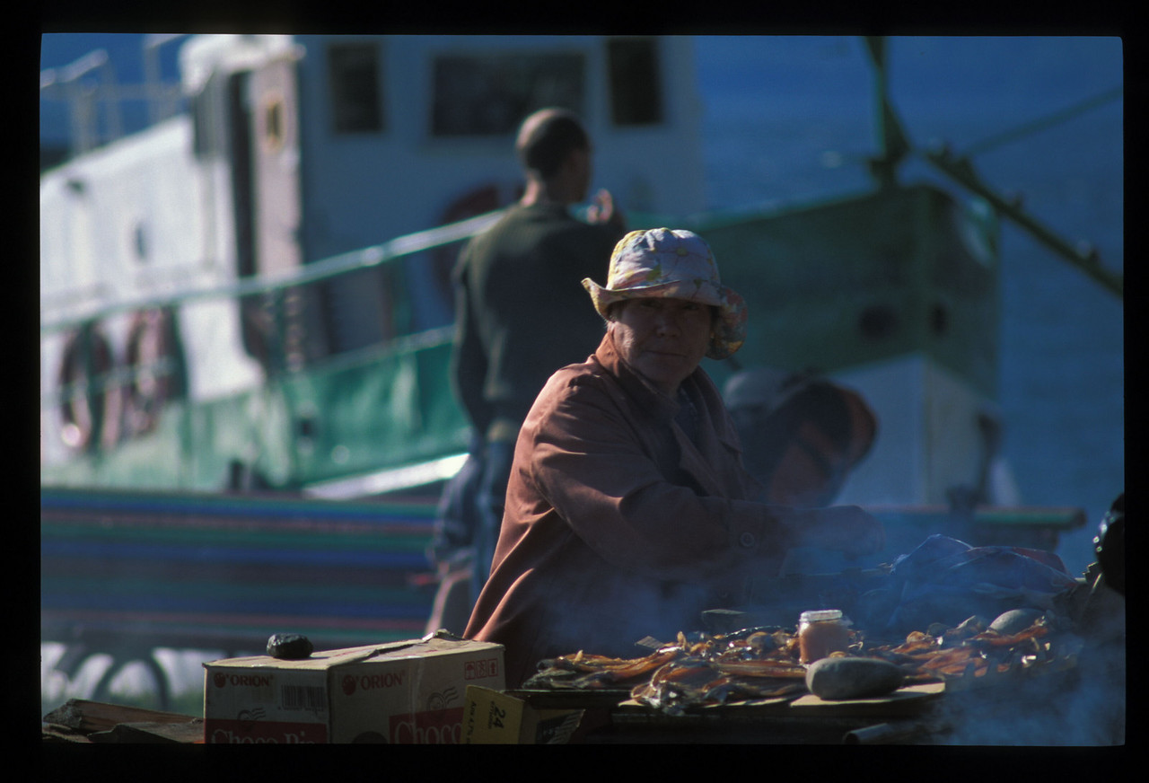 The day before the crossing was market day down on the Lake Baikal shore.