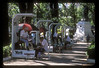 It would appear people think a lot about their shoes in Paraguay. These elaborate shoeshine kiosks lined a city park in Asuncion.