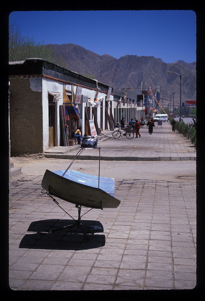 Once we'd made it to Xigatse, we found things for sale like this home-fashioned satellite dish.
