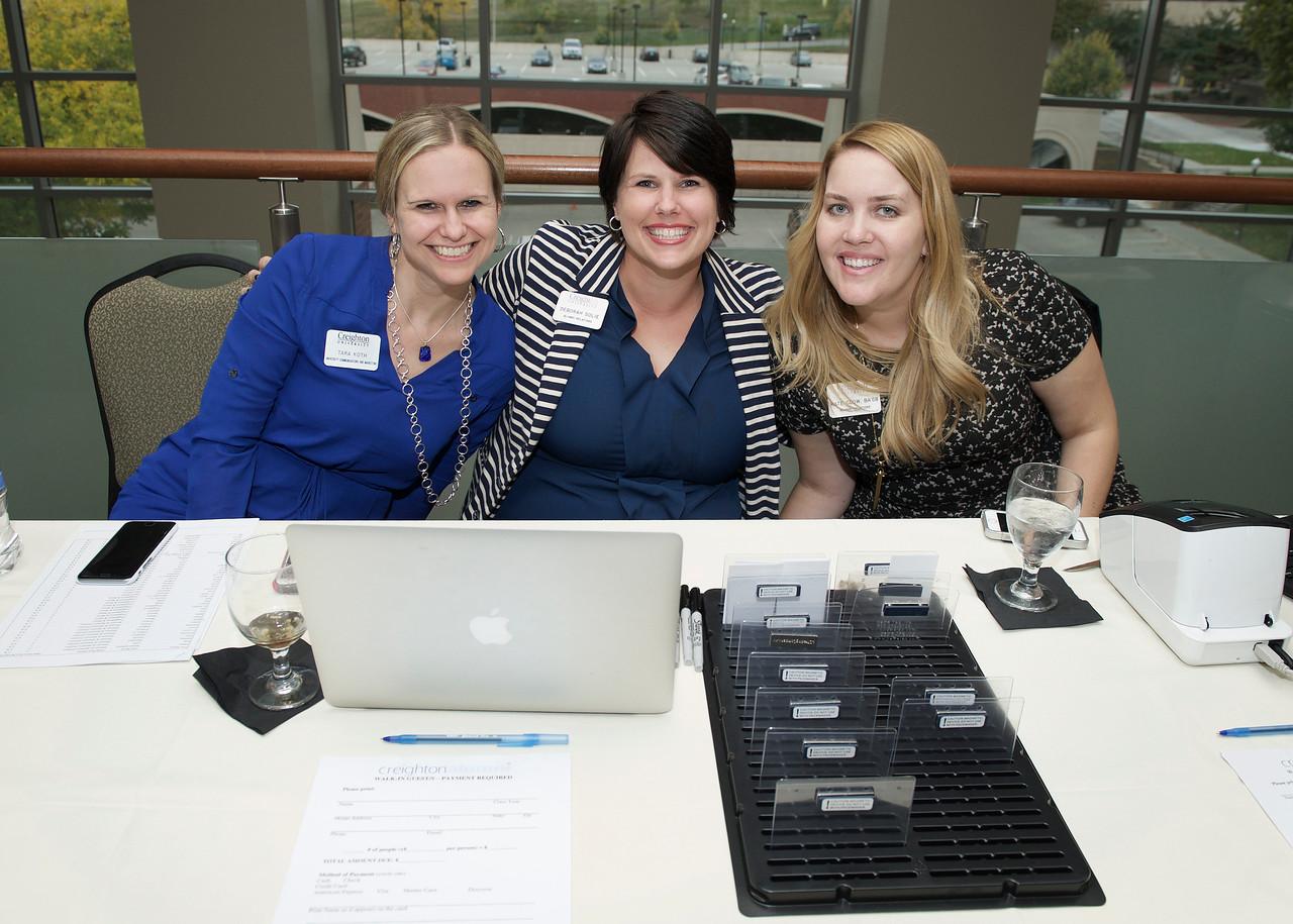 Tara Koth (University Communications & Marketing), Deborah Solie (Alumnae Relations) and Kate Glow (Alumnae Relations)