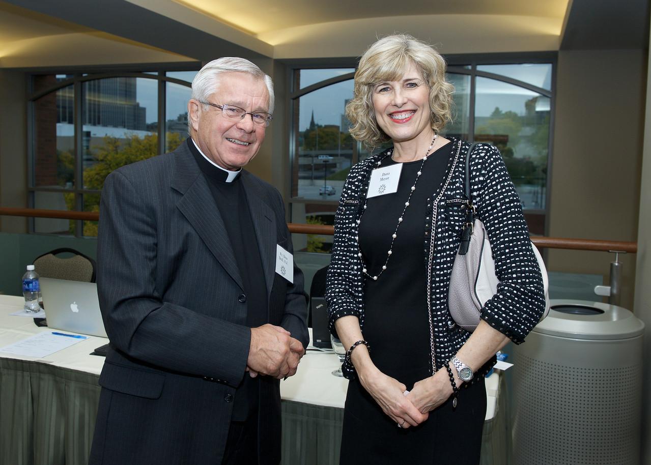 Fr. Don Doll SJ and Dana Meyer