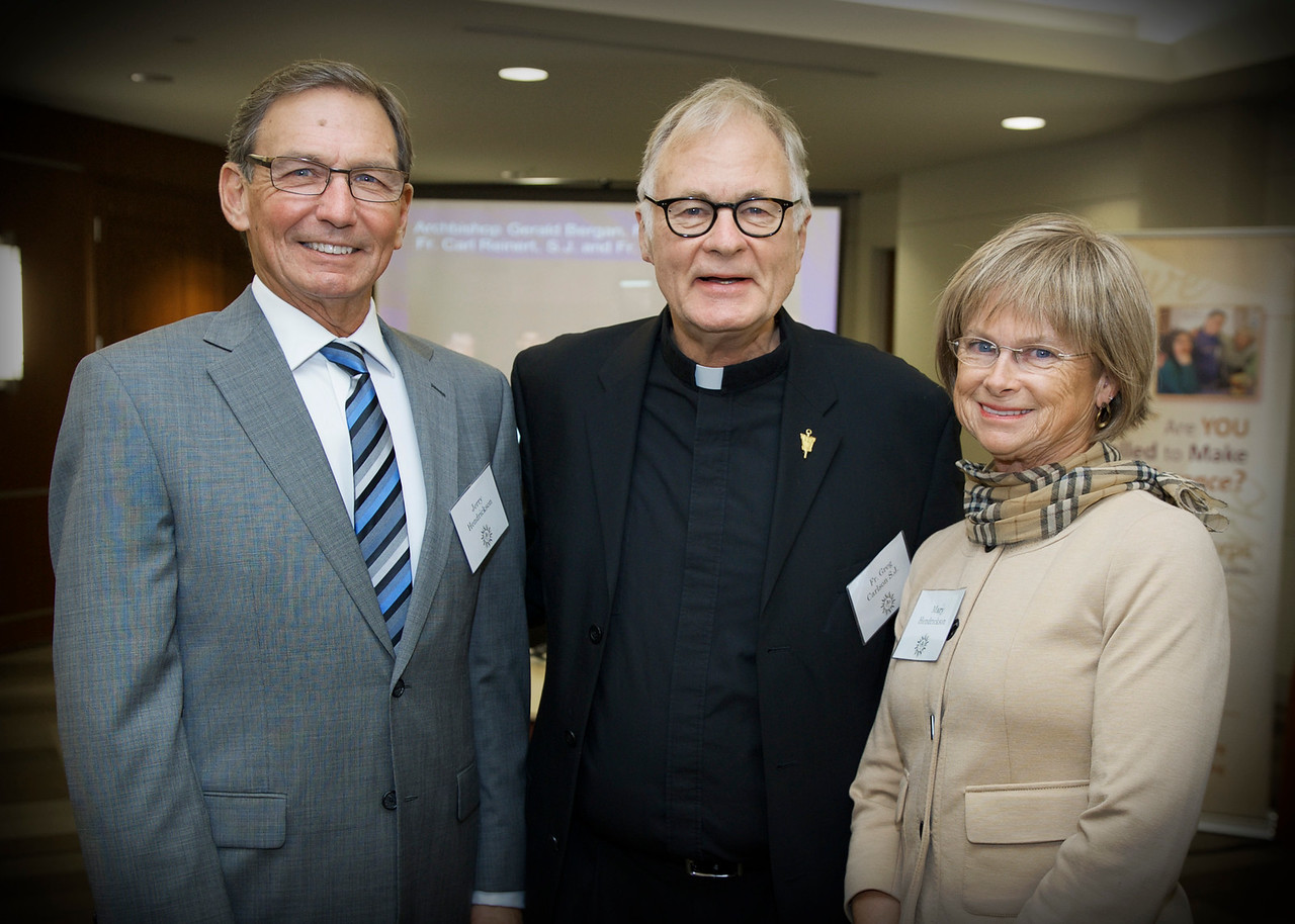 Jerry Hendrickson, Fr. Greg Carlson SJ and Mary Hendrickson