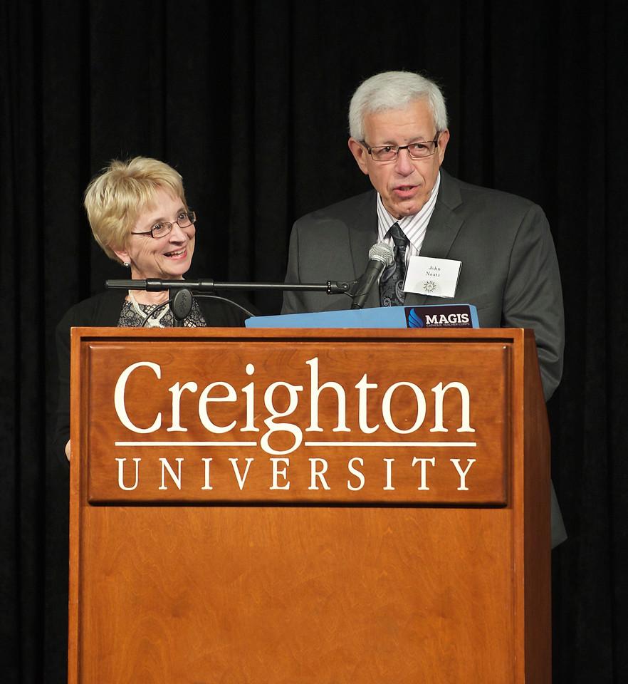 Susan and John Naatz (2015 Ignatian Spirit Award Recipients)