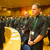 GC36 election of Fr. Arturo Sosa, of Venezuela, as Superior General of the Society of Jesus in the Aula by the Jesuits gathered from around the world.<br /> <br /> Tom Lawler, SJ. provinical of Wisconsin Province. Photo by Don Doll, SJ