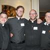 Jesuits John Roselle, Garrett Gundlach, Eric Immel, and Jeffrey Sullivan