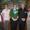 Vanessa Garza, Bri Grozak, Abby Glass with Fr. John Hatcher SJ (Director of St. Francis Mission) and Shannon Dunn