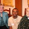 Joan Shrout, Fr. Agbonkhianmeghe Orobator, SJ, and Fr. Bob Dundon, SJ