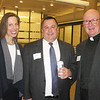 Elizabeth Kunze, Brian Amore and Bill Johnson SJ