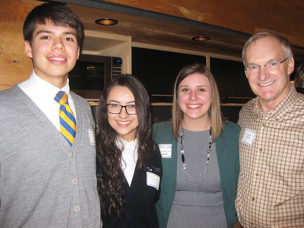 Cristo Rey Jesuit High School students with Kimberly Van Beek and Richard Reinbold