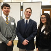 Andrew Stith, Founding President of Cristo Rey Jesuit High School with students, Ricardo and Ana.