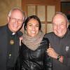 Fr. George Winzenburg SJ, Laree Pourier and Fr. JJ O'Leary SJ