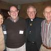 Margot and John Dunn, Fr. George Winzenburg SJ and Art Fink