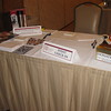 Check-in table at the Jesuit Nation event included an opportunity to win some door prizes!