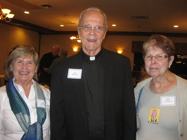 Ruth McShane, Fr. Wally Stohrer, SJ and Ardene Brown