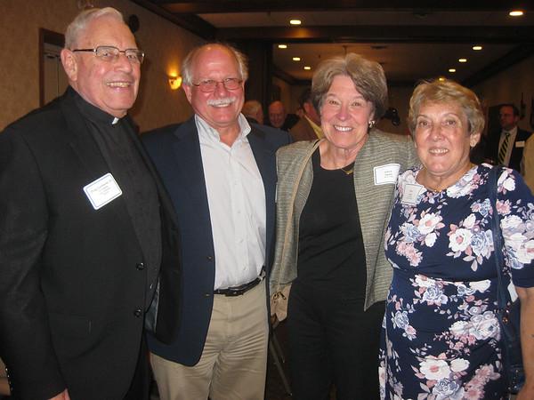 Fr. Doug Leonhardt, SJ (Superior at St. Camillus Jesuit Community), Tom Sutula, Eileen Sutula and Char Vargo