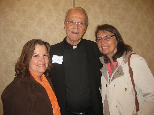 Barbara Macpherson, Fr. Wally Stohrer, SJ and Jane Ore.