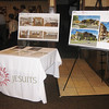 Display boards showing architectural renderings of the new building for the Jesuit Community at St. Camillus in Wauwatosa, WI.