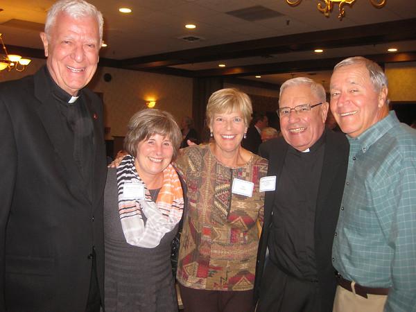 Fr. John Laurance SJ, Jane Glynn-Nass, Sue Schmitt, Fr. Doug Leonhardt SJ and Luigi Schmitt