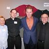 Matt Linn, SJ; James Shea, SJ; Rich Gannon and Joseph Weiss, SJ