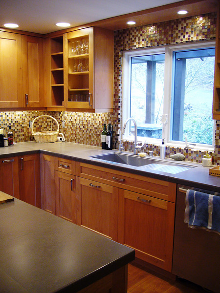 Here is a sample of Hertco cabinets installed in a home remodel HBHansen managed in 2008.