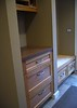 Hertco cabinets were used in this storage area near the back door.