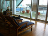 ...but a nice deck and chairs - I was afraid of relaxing in one of these chairs and missing my flight