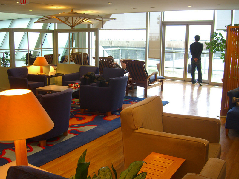 The JFK British Airways terminal Business Class lounge