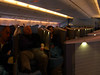 business class on Cathay Pacific - everyone has a cubicle...