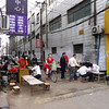 to the right of the hotel was restaurant row - outdoor eating at its local best - you can eat well for $0.14