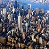 Empire State Building (center), Madison Square Garden (bottom left)