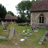 a general view of the churchyard
