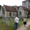 heading toward the 12th century church