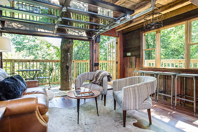 The Tin Shed Treehouse at The Mohicans Grand Barn & Event Center