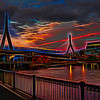Zakim Bridge At Dusk