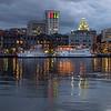 Savannah, Georgia Riverfront at Dusk
