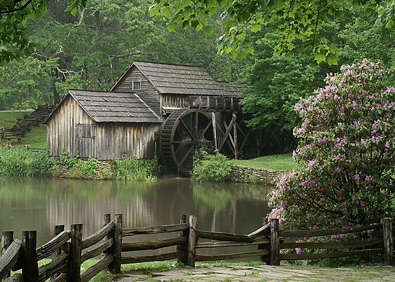 Blue Ribbon<br /> Beginner Color Class<br /> Mabry Mill<br /> Della Landheer