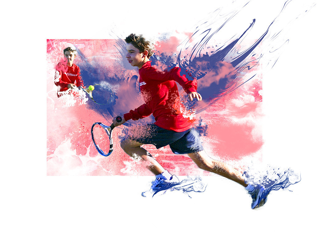 Blue Ribbon<br /> Advanced Color Class<br /> Tennis Player<br /> Nancy Springer