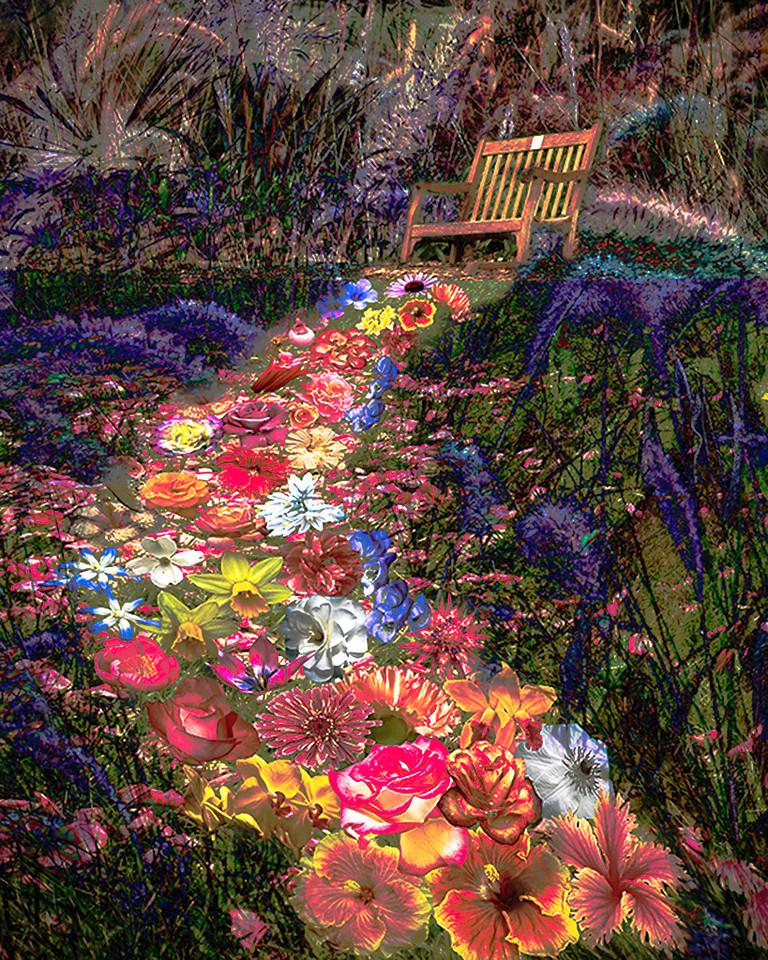Yellow Ribbon<br /> Advanced Creative Class<br /> Flower Path<br /> Dave Garrison