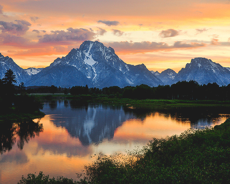 Yellow Ribbon<br /> Advanced Color Class<br /> Teton Sunset<br /> Dave Garrison