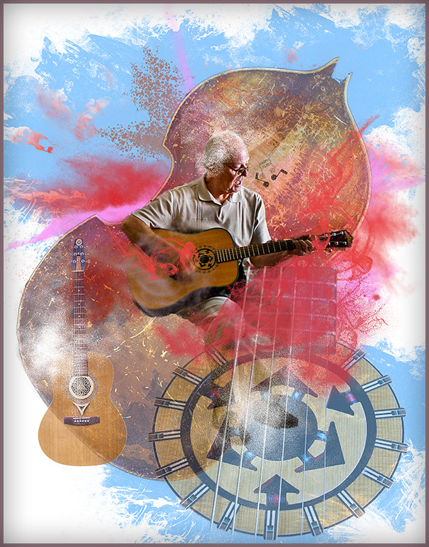 Print Competition<br /> Yellow Ribbon<br /> Advanced Creative Class<br /> The Guitar Player<br /> Nancy Springer