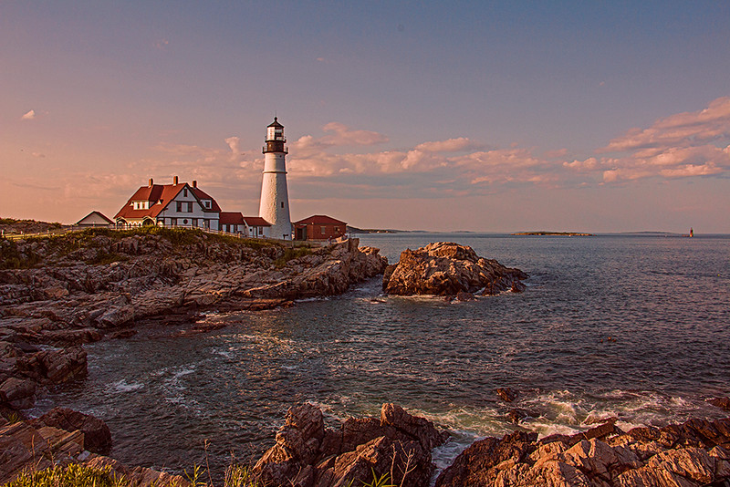 Print Competition<br /> Blue Ribbon<br /> Advanced Color Class<br /> Portland Head Light<br /> Nancy Springer