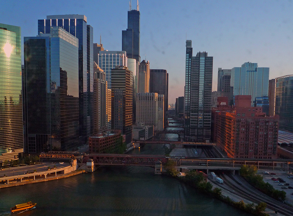 Honorable Mention<br /> Chicago River<br /> Dick Walker