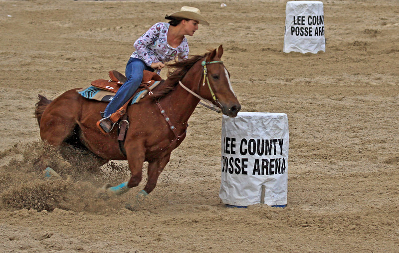 Third Place (Tie)<br /> Barrel Racing<br /> Janet Bigalke