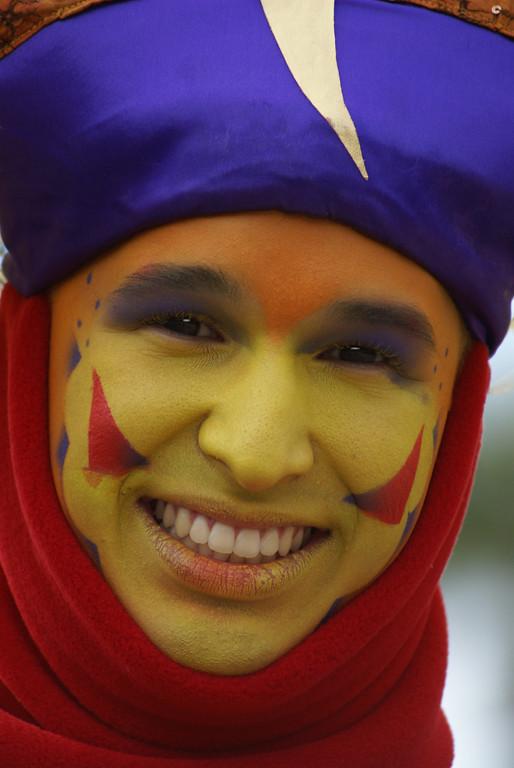 Third Place (Tie)<br /> Painted Face<br /> Della Landheer