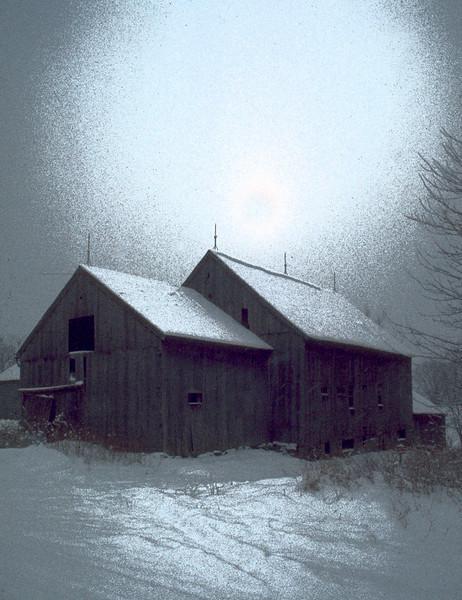 Third Place (Tie)<br /> Winter Barn<br /> Bob Bachand