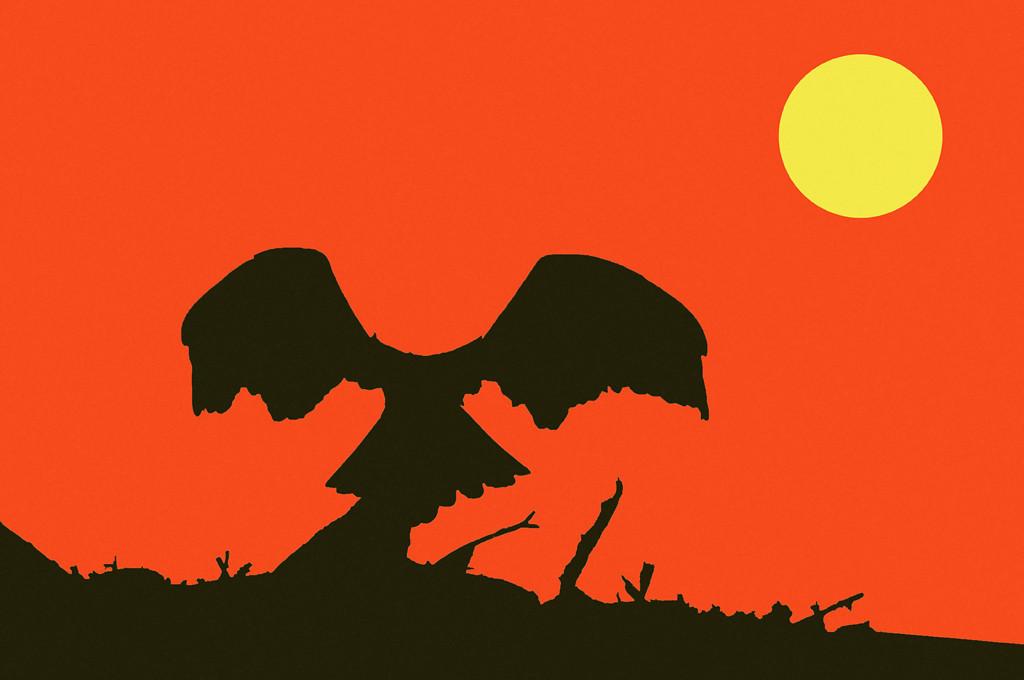 Second Place (Tie)<br /> Bird Silhouette<br /> Ed Cohen