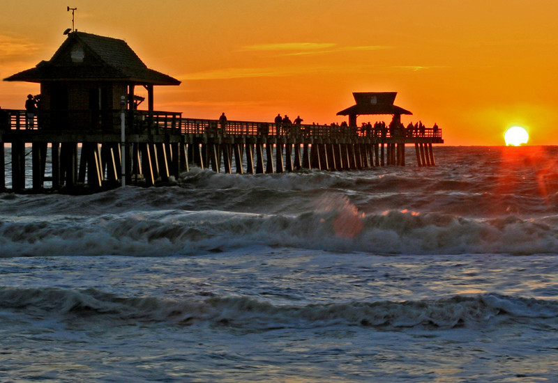 First Place<br /> Naples Pier Sunset<br /> Janet Bigalke