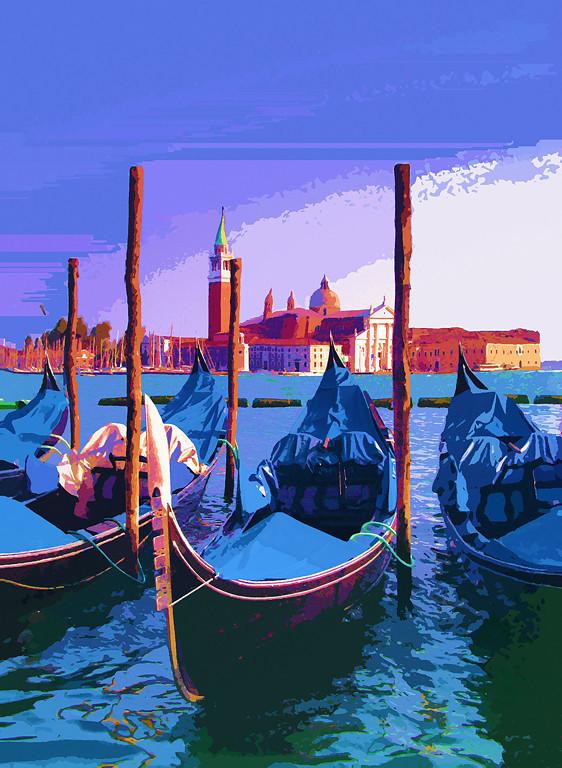 Second Place (Tie)<br /> Venice Gondolas<br /> Ed Cohen